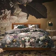 ESSENZA - Inspirationen aus aller Welt! Bed linen FLEUR taupe | 100% cotton satin
