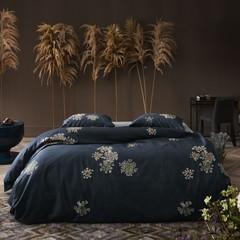 ESSENZA - Inspirationen aus aller Welt! LAUREN bed linen indigo blue | 100% cotton satin