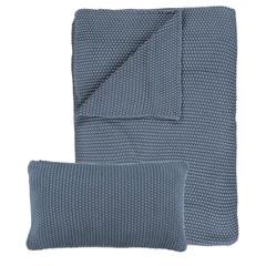 MARC O'POLO  NORDIC KNIT smoke blue | Cotton knit