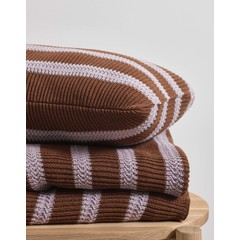 MARC O'POLO  STRUCTURE KNIT toffee brown | Baumwollstrick