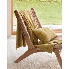 MARC O'POLO  KUARA yellow | Cotton knit | Plaid & pillow