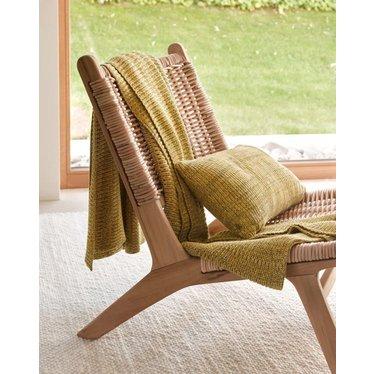 MARC O'POLO  KUARA yellow | Cotton knit | Plaid & Pillow | Hemsing carpet