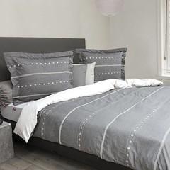 HnL HnL | Bettwäsche Giel | 2 Größen | grau-weiß