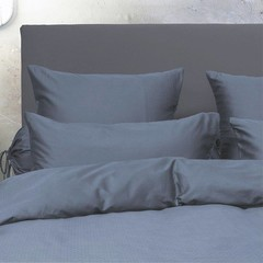 HnL HnL | Satin sheets | Puntini, blue-steel | 135/200, 80/80 cm