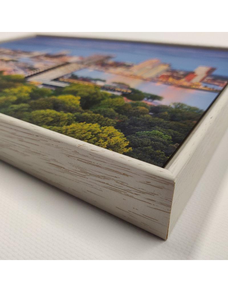 Magneetschilderij basisframe incl. witte houten lijst + 1 wisselbeeld