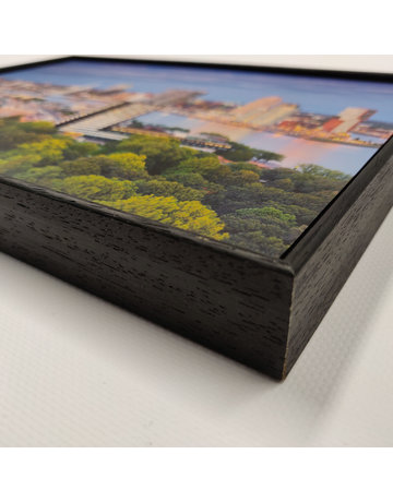 Basisframe zwart hout + 1 wisselbeeld