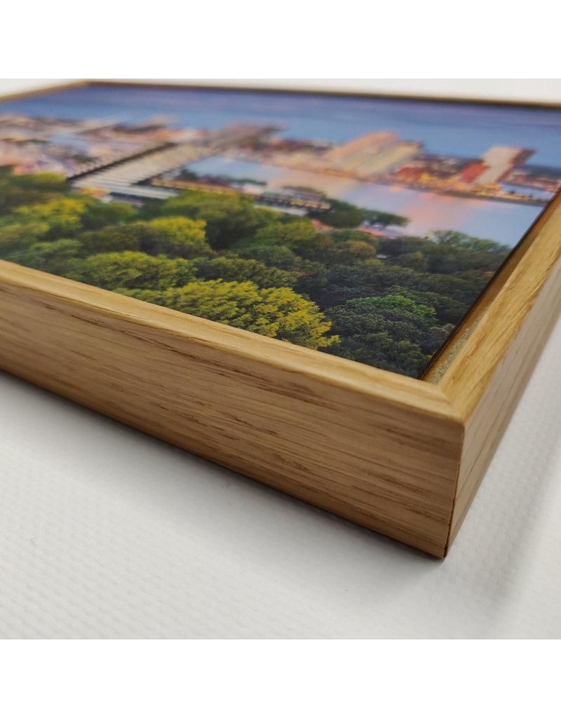 Magneetschilderij basisframe incl. eikenhouten lijst + 1 wisselbeeld