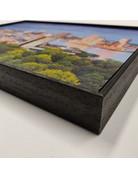 Magneetschilderij basisframe incl. zwarte houten lijst + 3 wisselbeelden