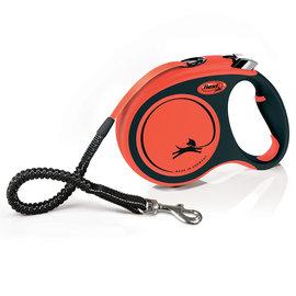 Flexi Xtreme oranje / zwart S 5 meter tot 20 kg.