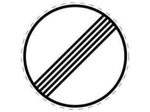 Verkeersbord Einde verbod