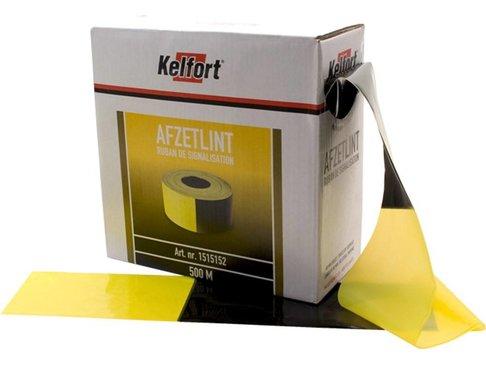 Kelfort Afzetlint Geel-zwart 80mm