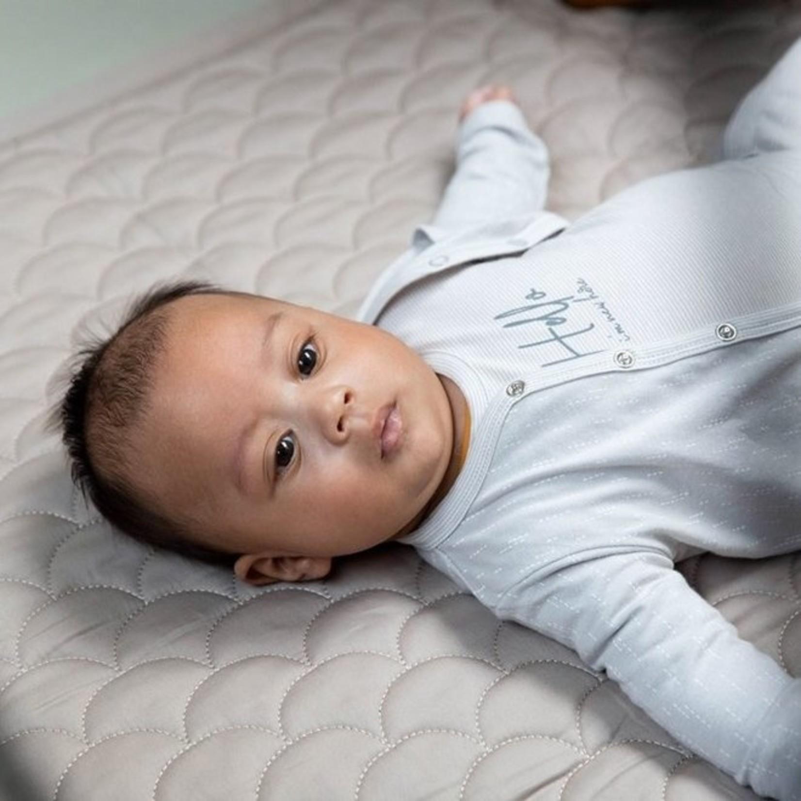Dirkje Unisex babypakje 3-delig lichtgrijs en ecru