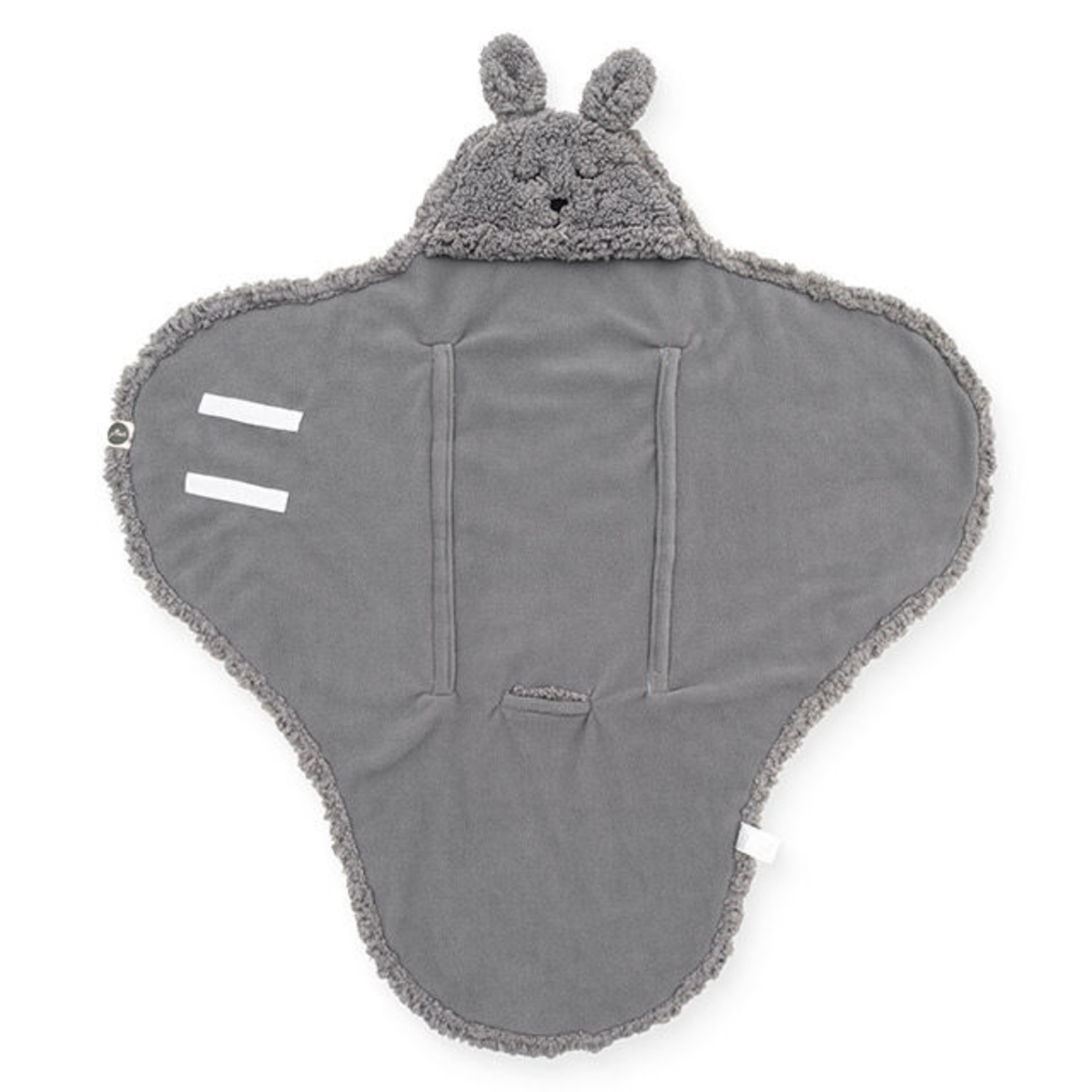 Jollein Wikkeldeken teddy bunny storm grey