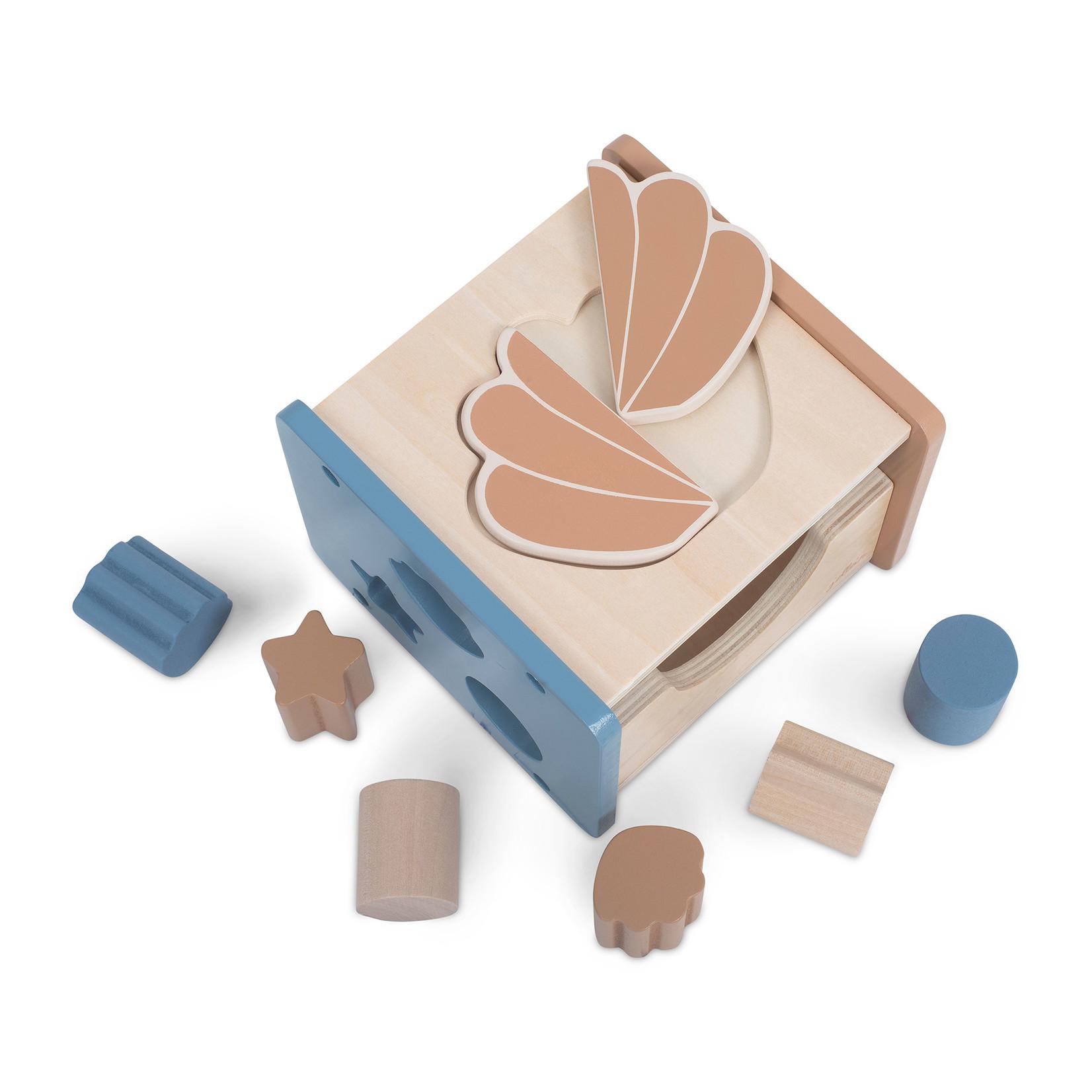 Jollein Houten blokken vormensoof schelp blue