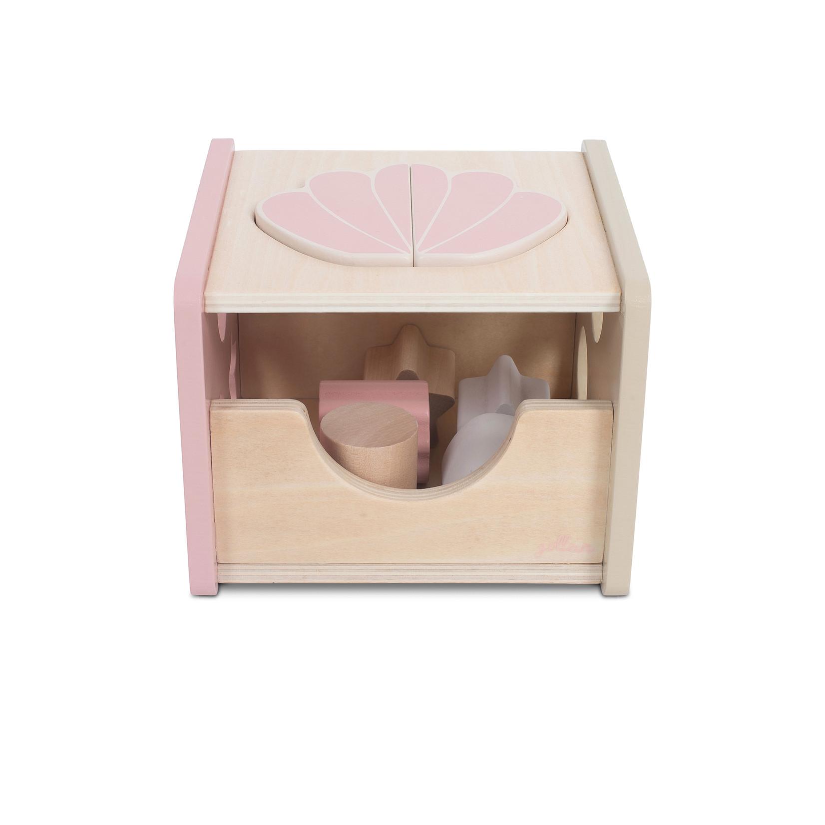 Jollein Houten blokken vormensoof schelp pink