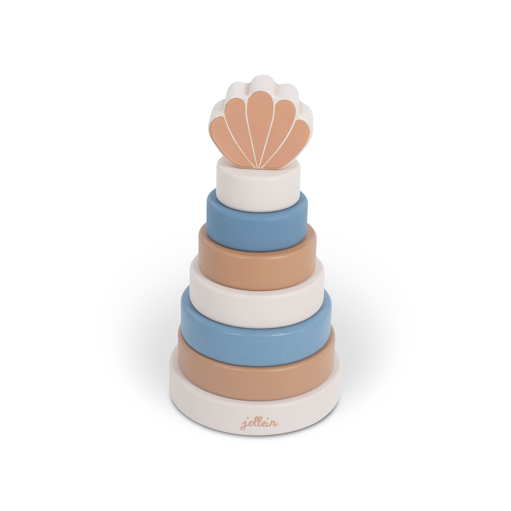 Jollein Houten stapeltoren shell blue