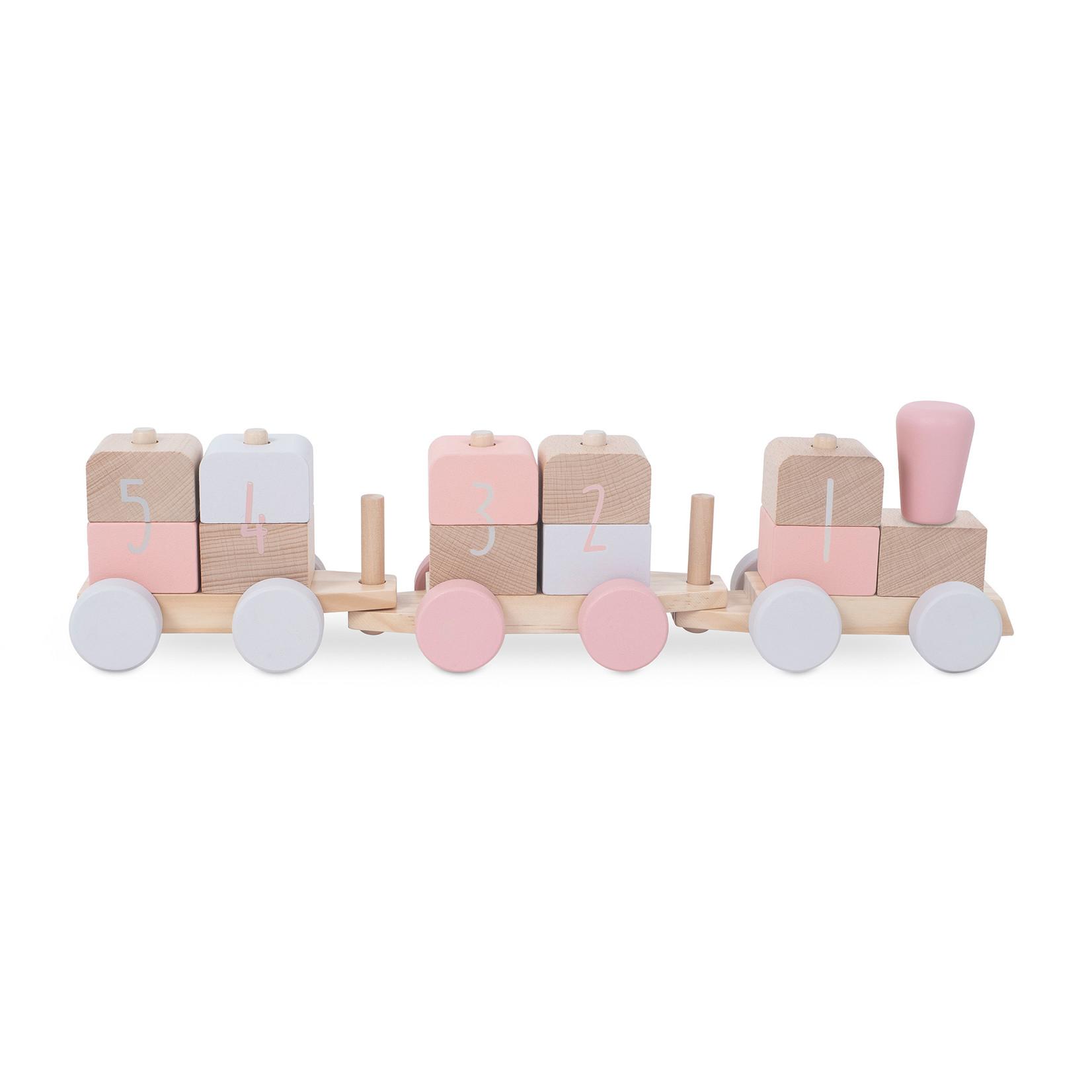 Jollein Houten speelgoedtrein pink