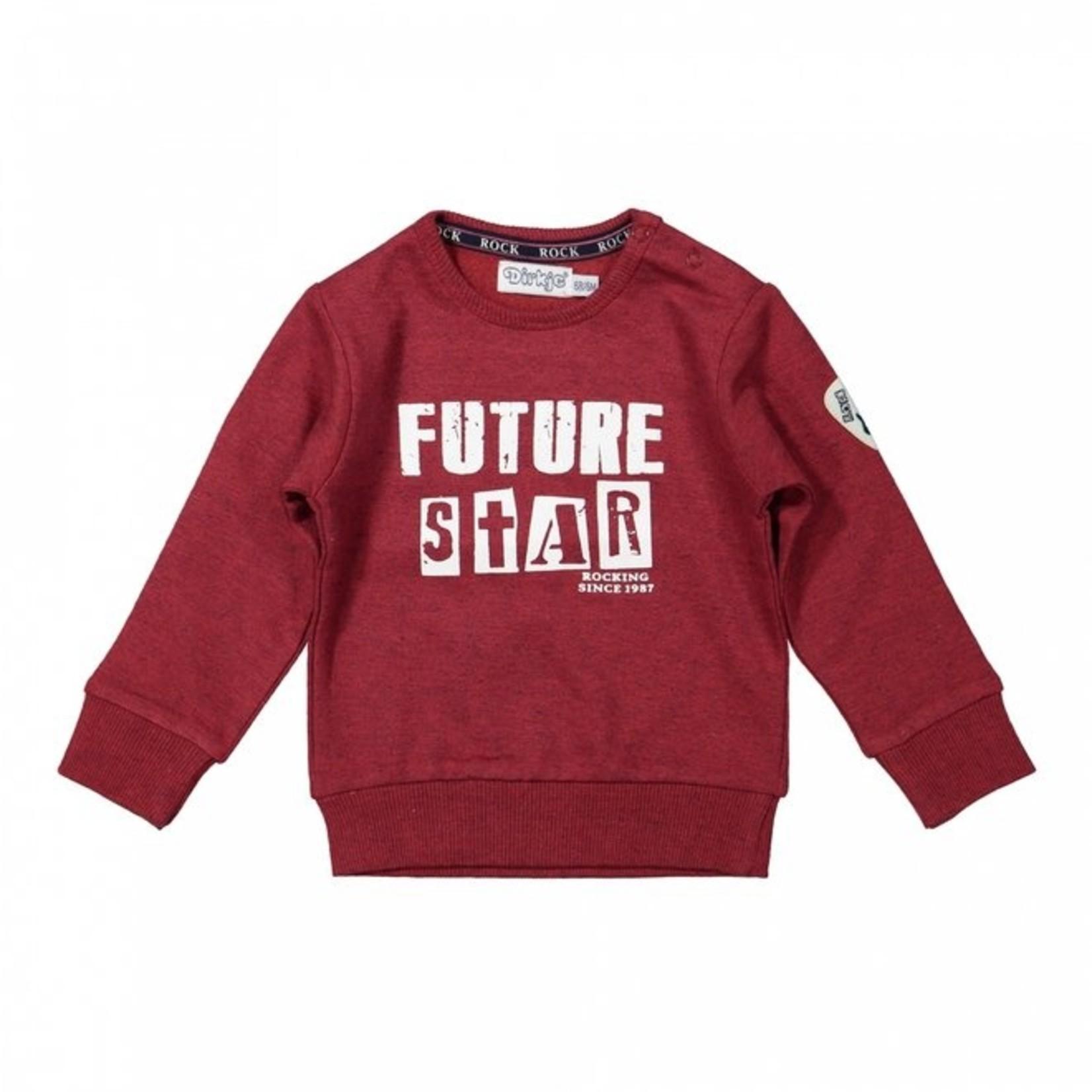 Dirkje Jongens sweater rood
