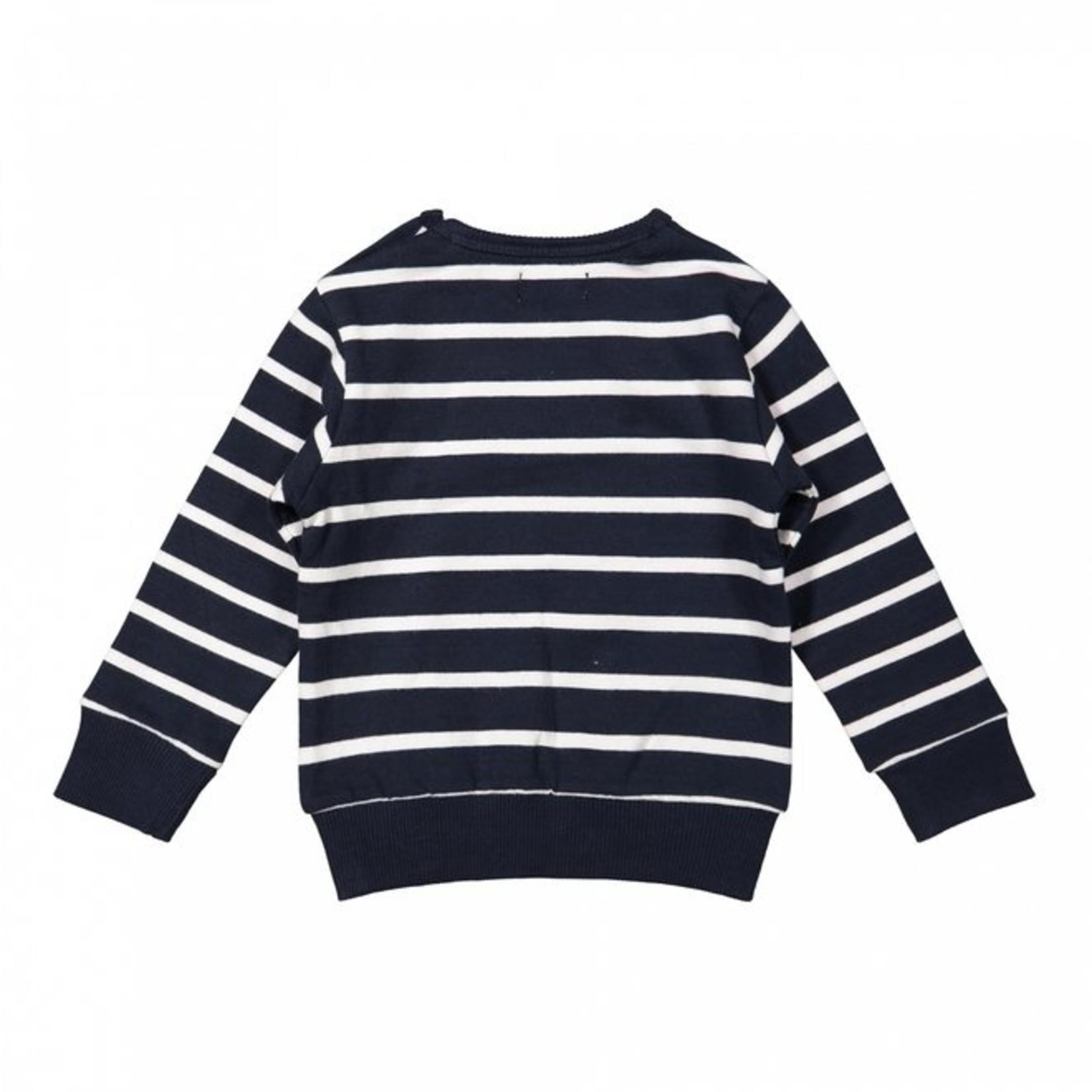 Dirkje Jongens sweater donkerblauw gestreept
