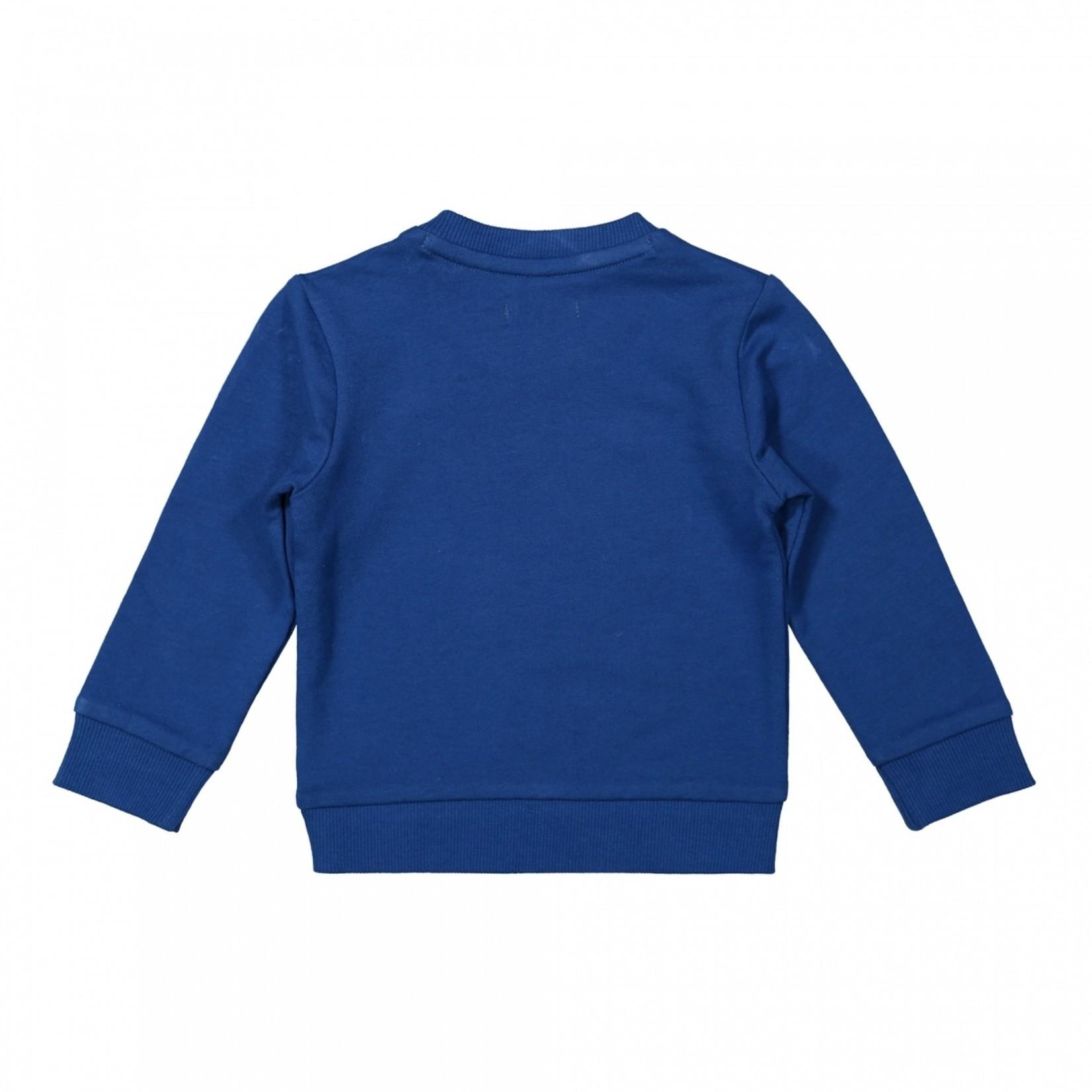 Dirkje Jongens sweater kobalt blauw tijger