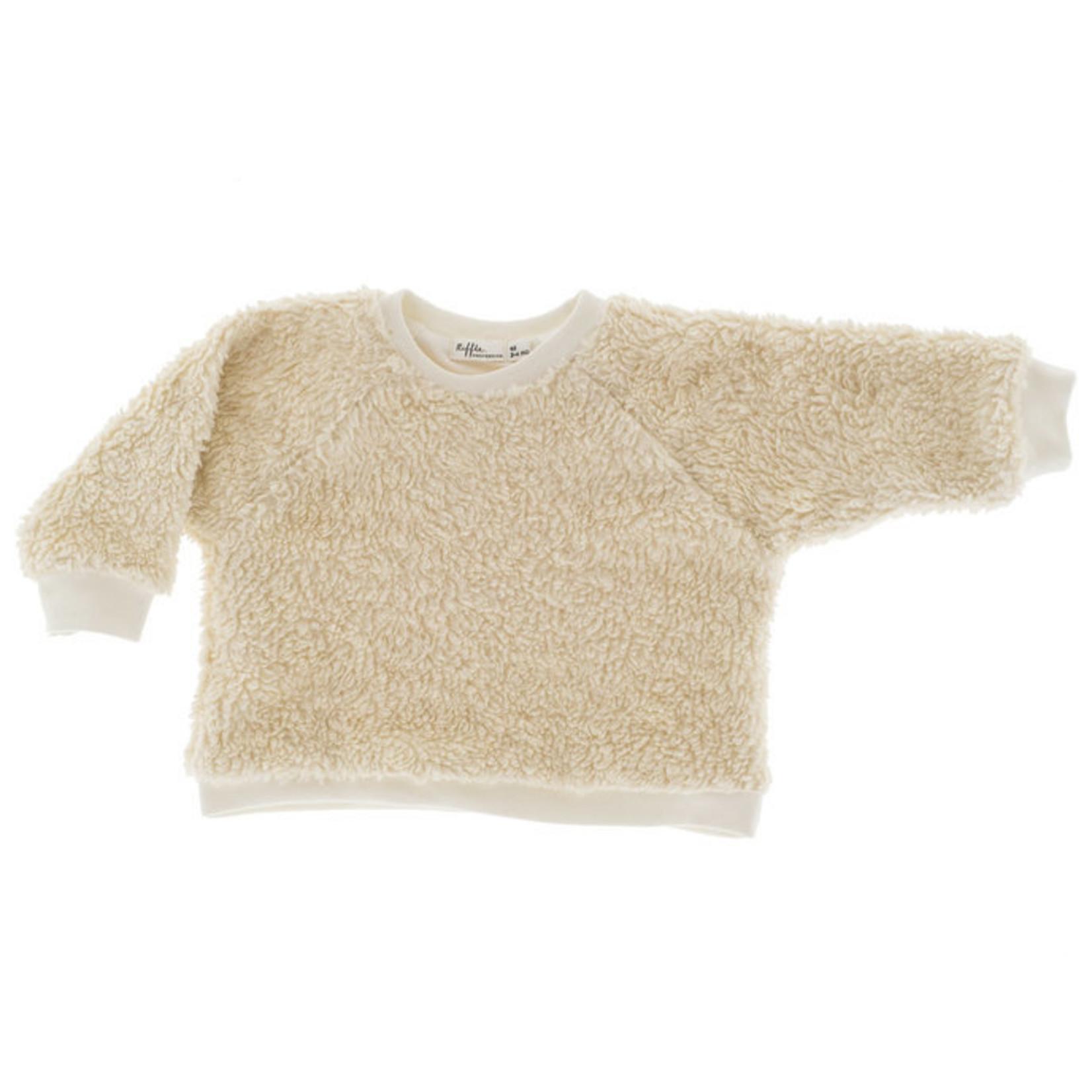 Riffle . Amsterdam Unisex sweater teddy off white