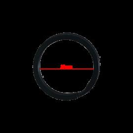 123Paracord Key Ring 20MM Flat Black