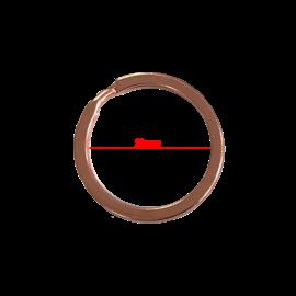 123Paracord Key Ring 20MM Flat rose gold