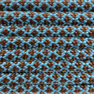 123Paracord Paracord 550 type III Neon Turquoise / Chocolate Diamond