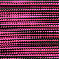 123Paracord Paracord 550 type III Ultra Neon Pink / Black Stripes