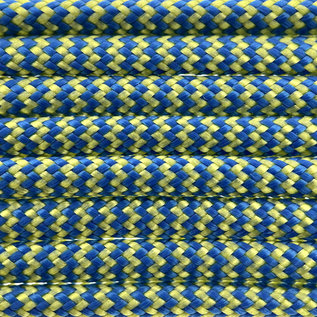 123Paracord Paracord 550 type III Blue / Yellow Shockwave