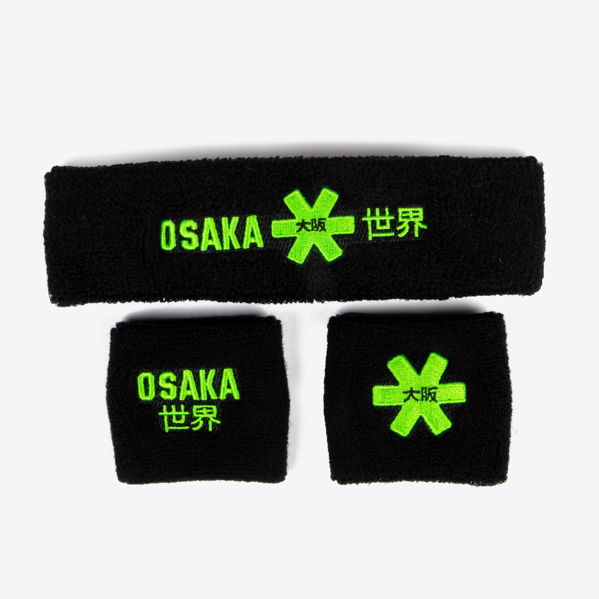 Osaka Osaka sweatband set zwart