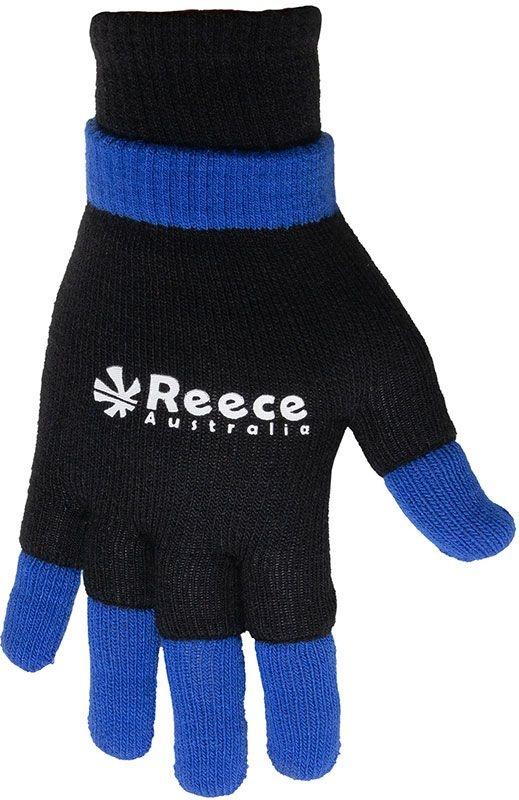 Reece Reece knitted ultra grip ultra grip glove 2 in 1 zwart - blauw senior