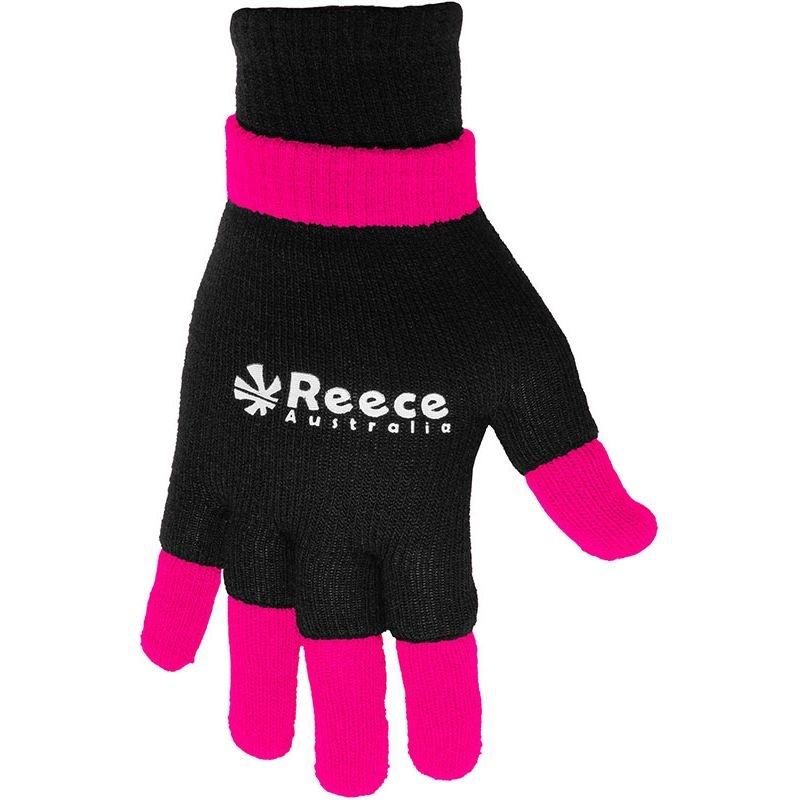 Reece Reece knitted ultra grip ultra grip glove 2 in 1 zwart - roze senior