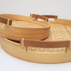 Dua Geweven dienblad bamboe set van 2
