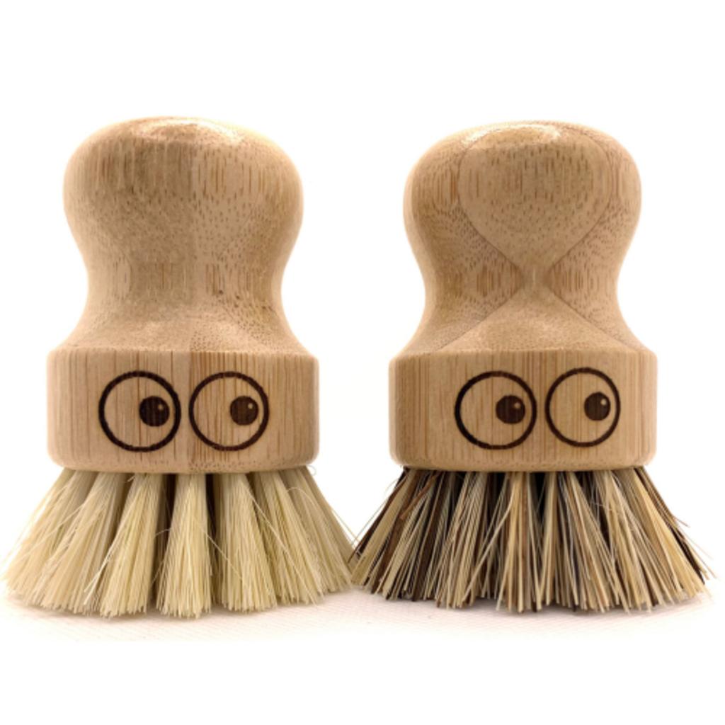 Ecojiko Pot wassers bamboe set van 2