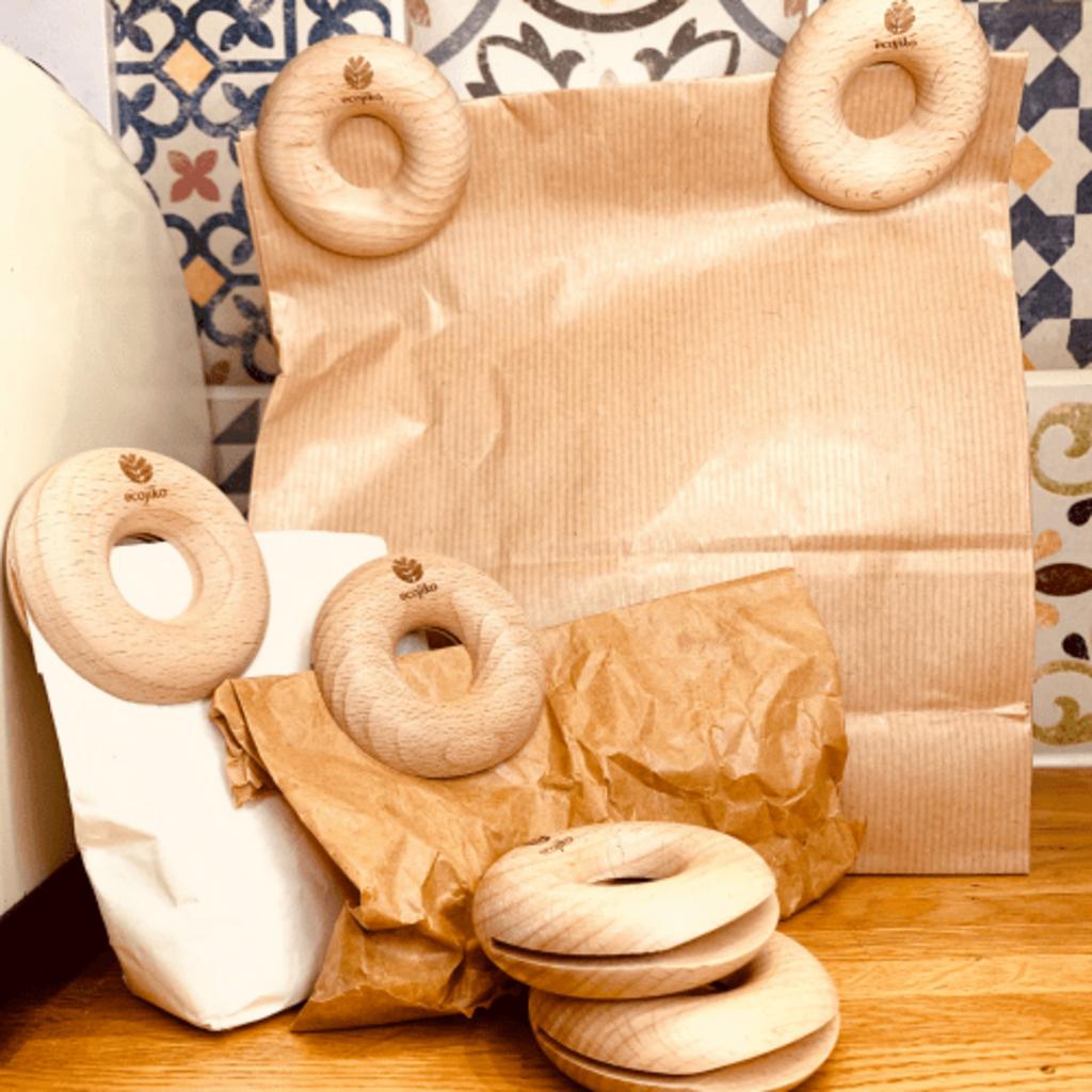 Ecojiko Donut clips beukenhout