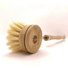 Ecojiko Afwasborstel bamboe met lange steel en vervangbare kop