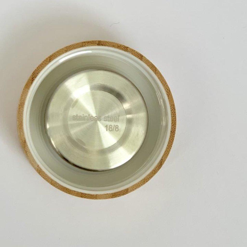 Fancy Trinken Dubbelwandige theefles van glas met bamboe dop