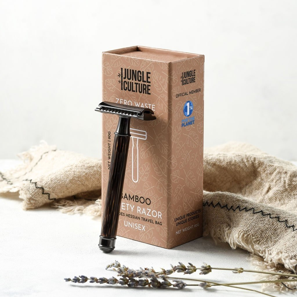 Jungle Culture Veiligheidsscheermes bamboe met reis etui