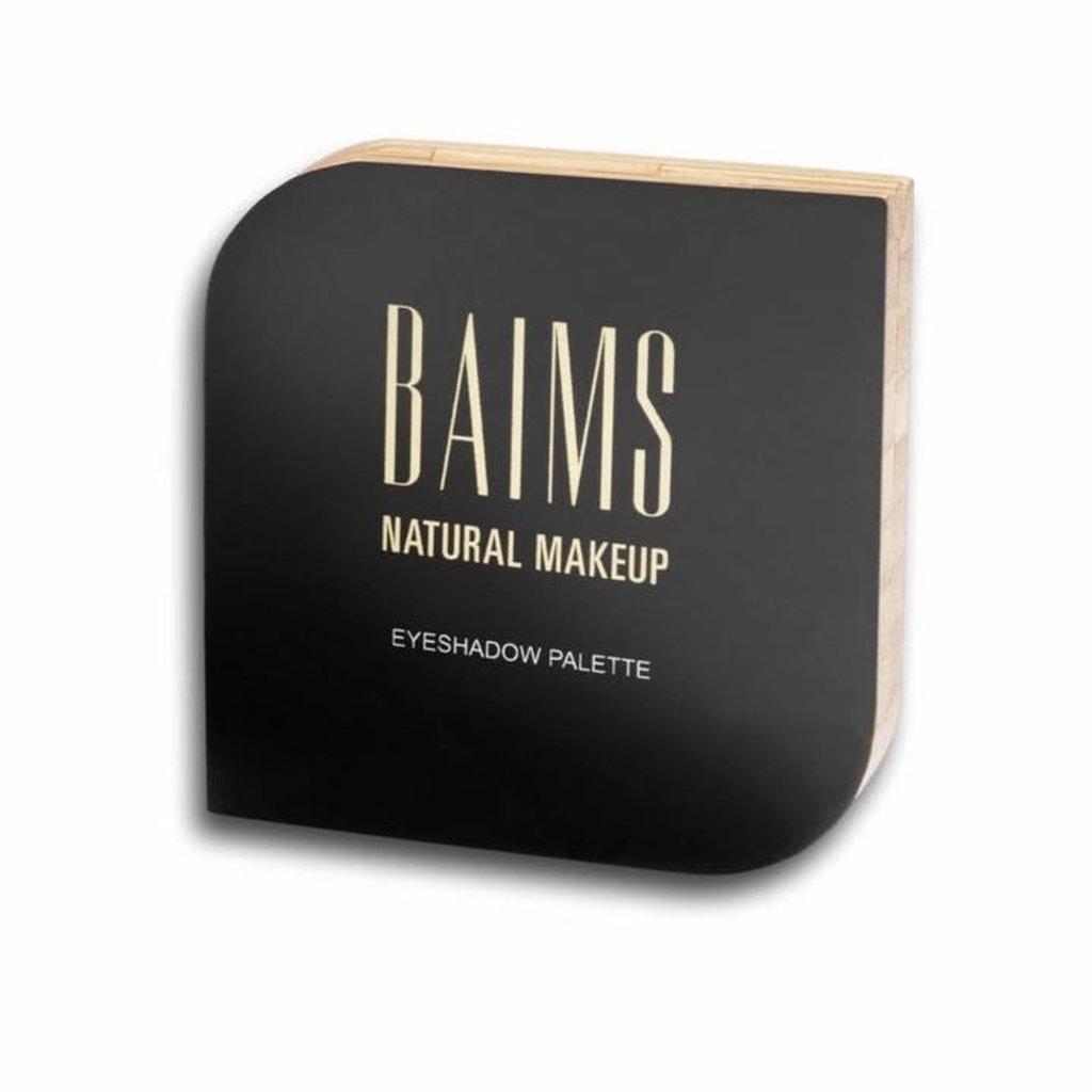 Baims Natural make-up Oogschaduw, 4 kleuren palet Mother Earth, bamboe verpakking