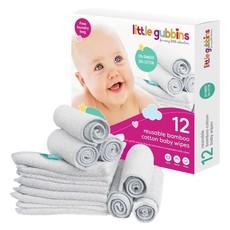 Little Gubbins Bamboe baby wipes set van 12
