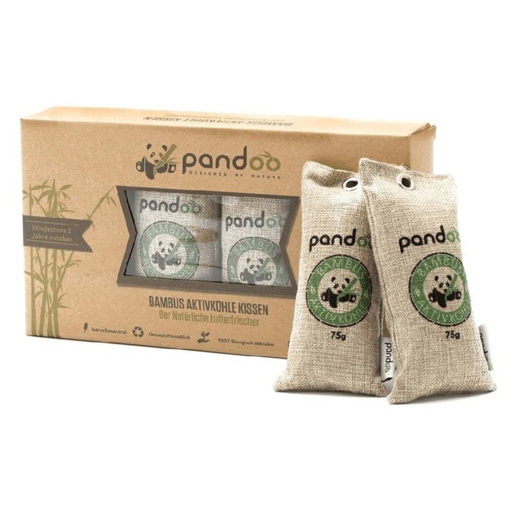 Pandoo Luchtverfrissers 100 % bamboe actieve kool