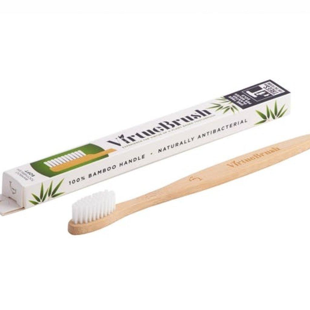 Virtuebrush Vlakke witte bamboe tandenborstel