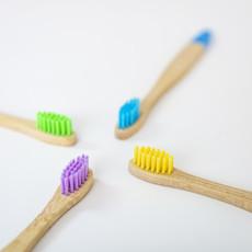 Wild and Stone Bamboe kinder tandenborstel   4 stuks - Meerkleurig
