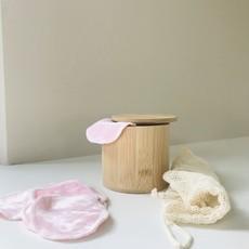 Blokzeep Make-up pads set  met bamboe doos