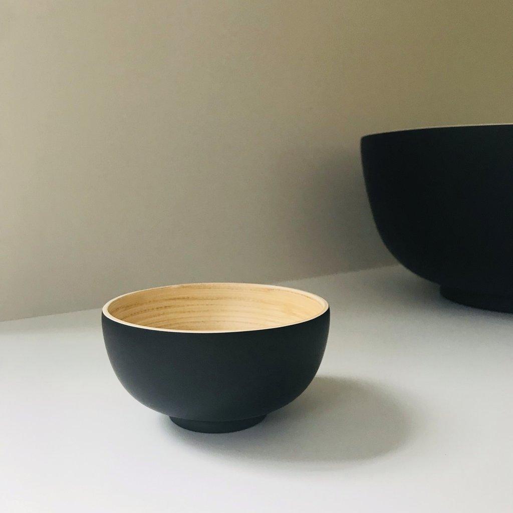 Bibol Mat zwart bamboe schaaltje