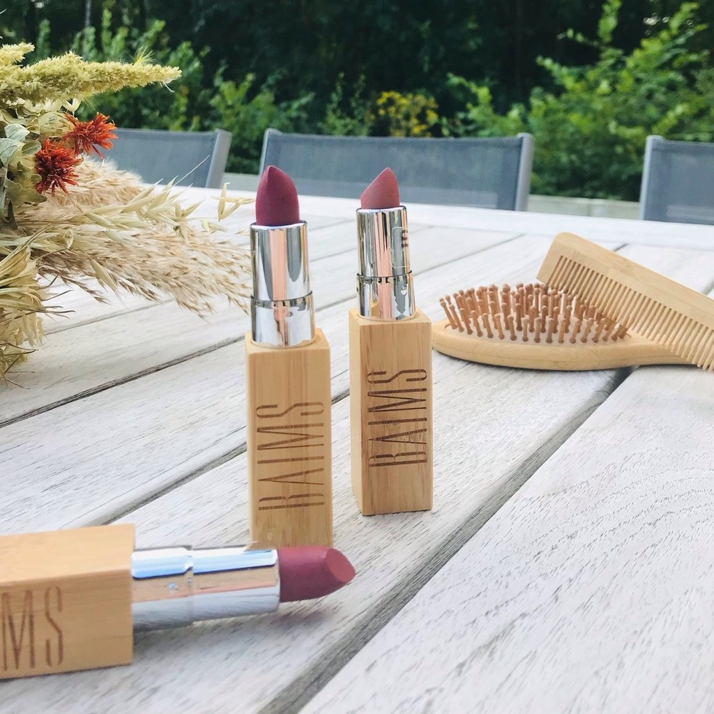 Baims Natural make-up Lippenstift natural make-up bamboe cover