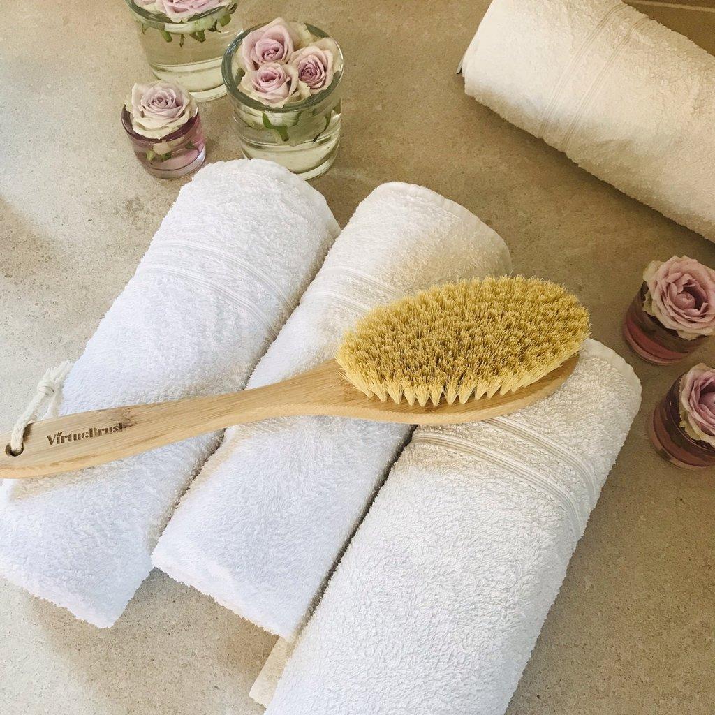Virtuebrush Lichaamsborstel met natuurlijk sisalhaar en bamboe handvat