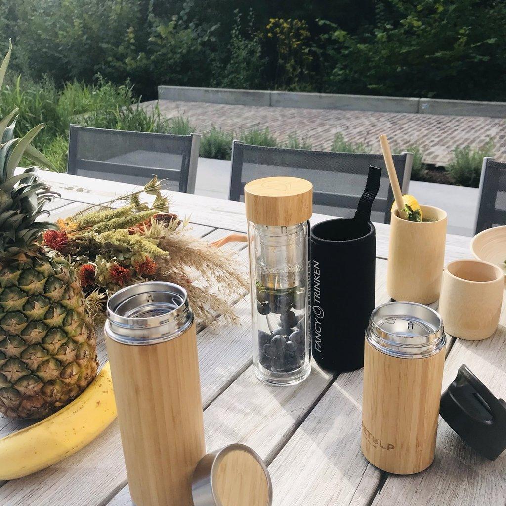 Retulp Thermos beker bamboe 250 ml