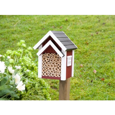 "Bijen huisje ""Biholk""- rood"